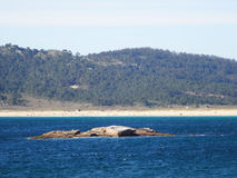 Lanzada Paradisiac beach - North Coast Spain Royalty Free Stock Images