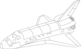 Lanzadera de espacio de vector Fotografía de archivo