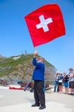 Lanzador suizo de la bandera Imágenes de archivo libres de regalías