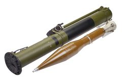 Lanzagranadas impulsado por un cohete antitanques con la granada del CALOR Imagen de archivo libre de regalías