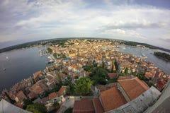 Lanzamiento aéreo de Rovinj imagen de archivo libre de regalías
