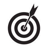 Lanzamiento acertado Icono del objetivo de la blanco de los dardos en el fondo blanco Ilustración del vector ilustración del vector
