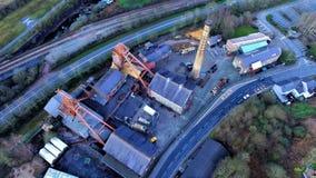 Lanzamiento de Airial de una mina de carbón vieja en el valle del Sur de Gales  foto de archivo