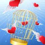 Lanzamiento de corazones Fotos de archivo libres de regalías