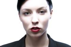 Lanzamiento de la cara de la mujer Foto de archivo libre de regalías