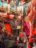 Lanzamiento de la película Mortdecai Foto de archivo libre de regalías