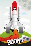 Lanzamiento de las naves espaciales   Fotos de archivo