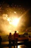 Lanzamiento de los fuegos artificiales Fotos de archivo libres de regalías