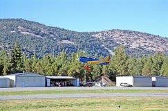 Lanzamiento del aeroplano Fotografía de archivo