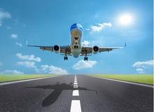 Lanzamiento del aeroplano Imagen de archivo libre de regalías