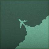 Lanzamiento del avión de la pizarra Imágenes de archivo libres de regalías