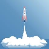 Lanzamiento del cohete del vector ilustración del vector