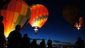 Lanzamiento del globo Fotos de archivo libres de regalías