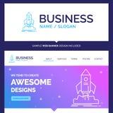 Lanzamiento hermoso de la marca del concepto del negocio, inicio, nave, shu stock de ilustración
