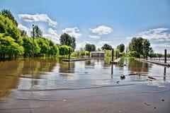 Lanzamiento inundado del barco Foto de archivo libre de regalías