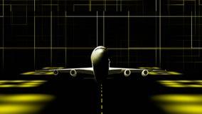 Lanzamiento plano del cgi ilustración del vector