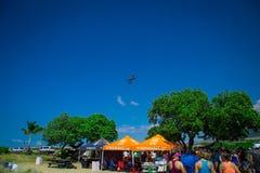 Lanzamiento plano sobre la tienda de Ragnar Hawaii Fotografía de archivo