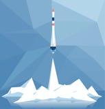 Lanzamiento poligonal del cohete Imagenes de archivo