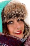 Lanzamiento principal de la mujer joven Imagen de archivo libre de regalías
