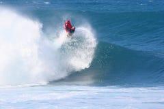 Lanzamientos de Mike Stewart fuera de la onda Foto de archivo