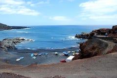 Lanzarote海滩 图库摄影
