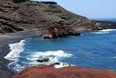 Lanzarote海滩 库存图片