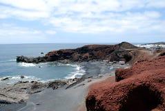 Lanzarote海滩 免版税图库摄影