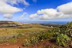 Lanzarote,加那利群岛,西班牙 免版税库存图片