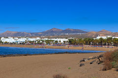 Lanzarote έχει τις πολλές και τις όμορφες παραλίες στοκ εικόνες με δικαίωμα ελεύθερης χρήσης