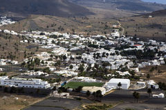 Lanzarote αγροτικό στο χωριό όψης uga Στοκ Εικόνα