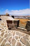 Lanzarote Ισπανία η παλαιά πόρτα τοίχων teguise arrecife Στοκ Εικόνες