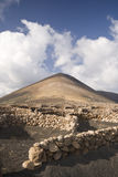 Lanzarote_1. The volcanic landscape of Lanzarote Island (Canary Islands Royalty Free Stock Photo