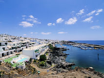 Lanzarote. Puerto Calero, Lanzarote, Canary Islands, Spain Stock Image