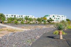 Τοπίο διαμερισμάτων Lanzarote Στοκ φωτογραφία με δικαίωμα ελεύθερης χρήσης