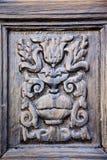 lanzarote abstract deurhout bruin Spanje Stock Afbeeldingen