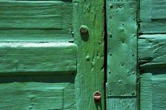 Lanzarote abstract deurhout in groen Royalty-vrije Stock Fotografie