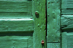 Lanzarote abstract door wood in  green Royalty Free Stock Photography