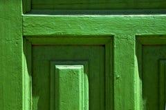 Lanzarote abstracte deur houten groen Spanje Stock Afbeelding