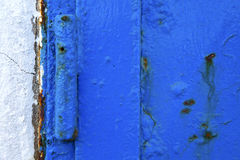 Lanzarote abstrakt begreppblått   det vita Spanienet Royaltyfri Bild