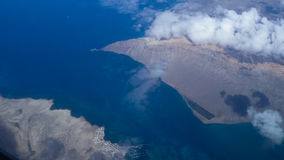 Lanzarote from the air royalty free stock image