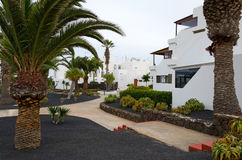 Lanzarote apartments area Royalty Free Stock Photo