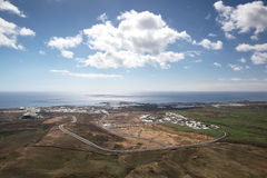 Lanzarote - Arial view of Costa Teguise Royalty Free Stock Image
