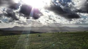 Lanzarote-Berge Stockfotografie