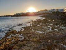 Lanzarote, BLANCA Playa Στοκ Φωτογραφία