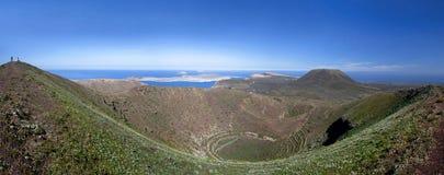 Lanzarote - Caldera of the volcano Los Helechos Stock Images