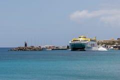LANZAROTE, CANÁRIO ISLANDS/SPAIN - 2 DE AGOSTO: Expre das Ilhas Canárias fotos de stock royalty free