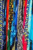 LANZAROTE, CANÁRIO ISLANDS/SPAIN - 31 DE JULHO: Seda Multicoloured s fotografia de stock royalty free
