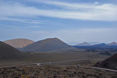 Lanzarote - Canary island. View of many volcanos in Lanzarote's landscape Stock Images