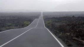 Lanzarote, Canary Islands,  road Stock Photos