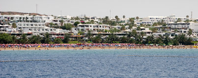 LANZAROTE, CANARY ISLANDS/SPAIN - AUGUST 5 : People relaxing on royalty free stock photos